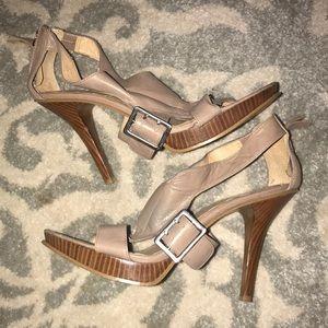 Tan Nine West heels